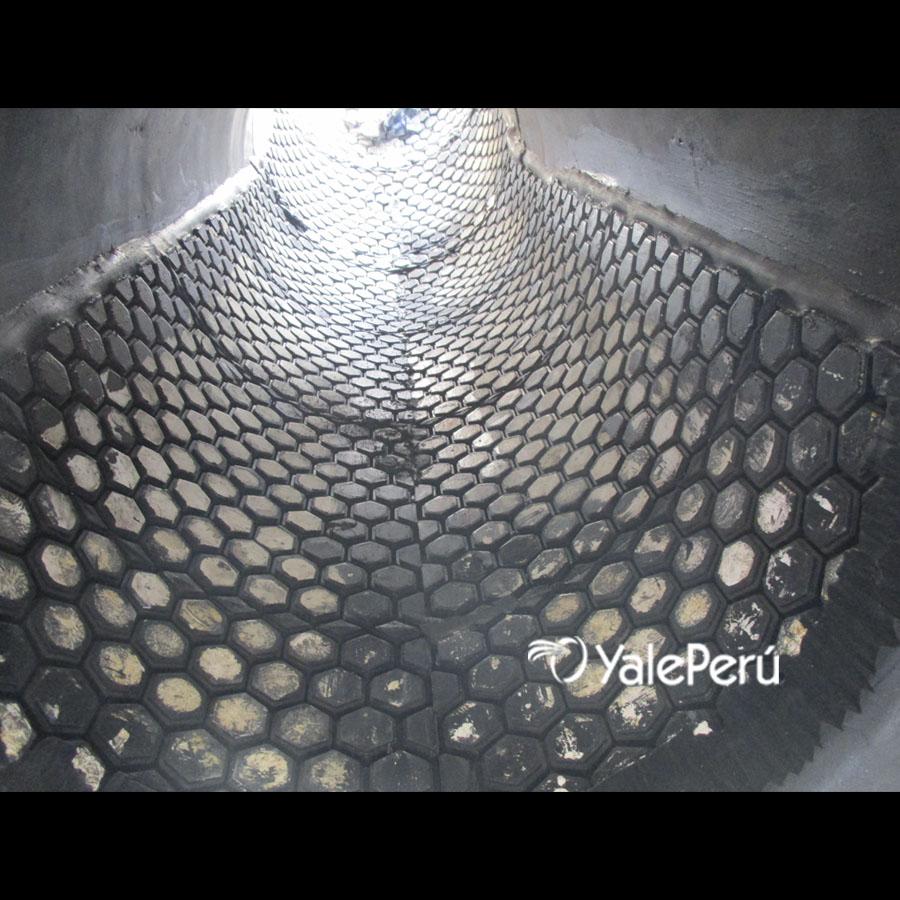 Fabricación de spools con revestimiento en caucho e inserto cerámico